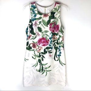 Eliza J Floral Sleeveless Sheath Dress